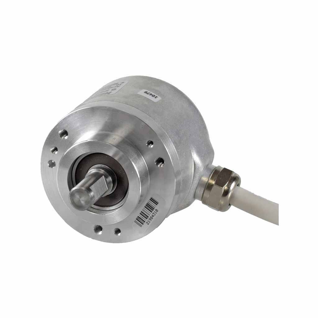 Hengstler AC58 absolute encoder solid shaft design with clamping flange with radial cable