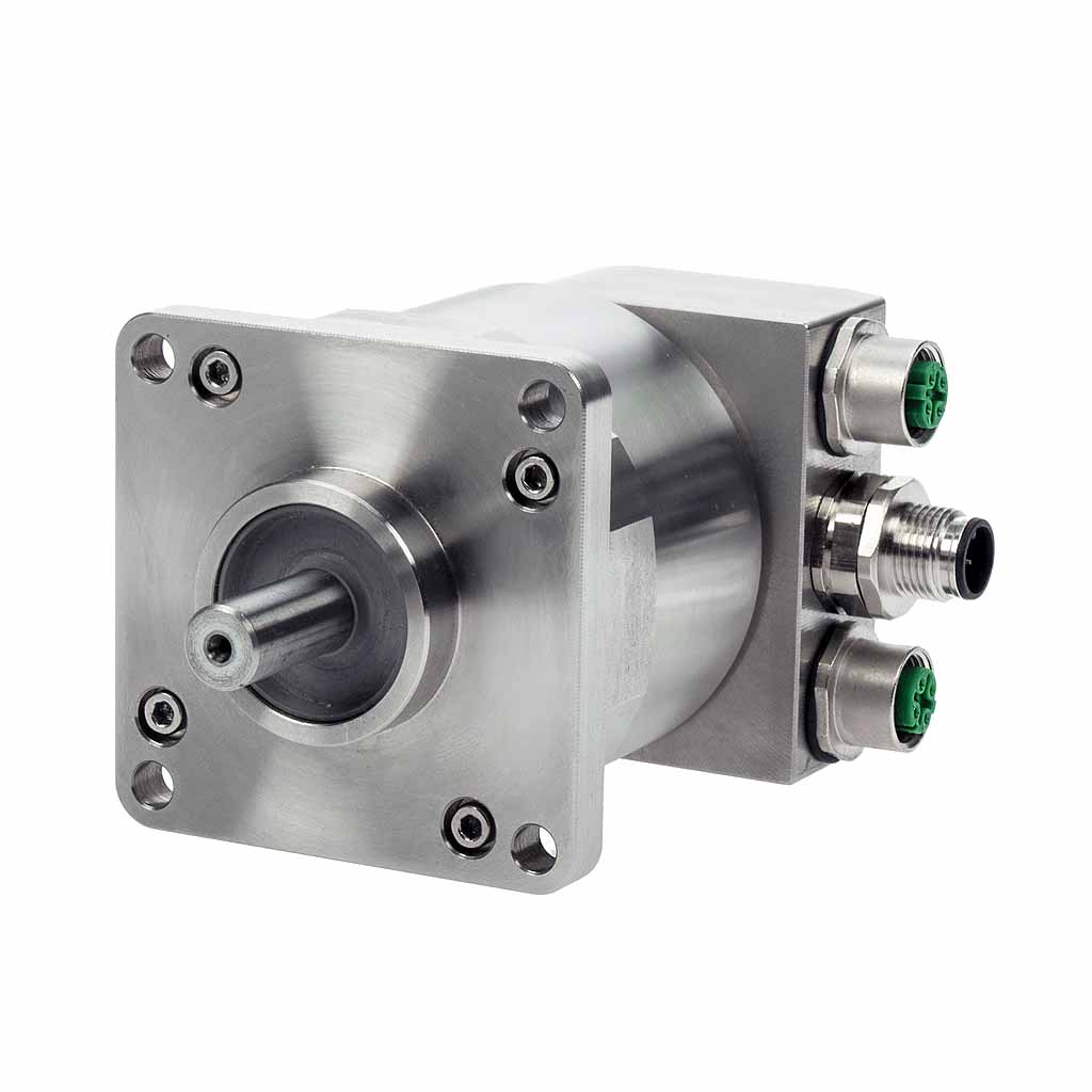Hengstler AC61 PROFINET absolute encoder solid shaft with square flange