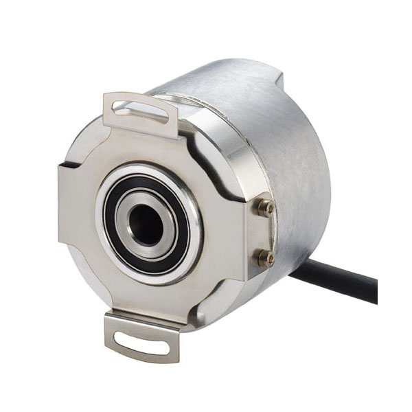 Hengstler AD58 absolute rotary encoder hollow shaft design with spring tether