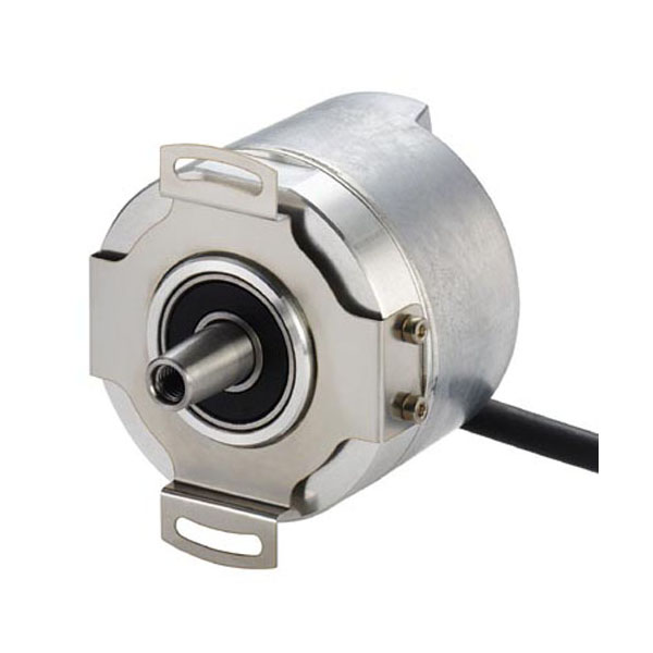 Hengstler AD58 absolute rotary encoder solid shaft design with spring tether