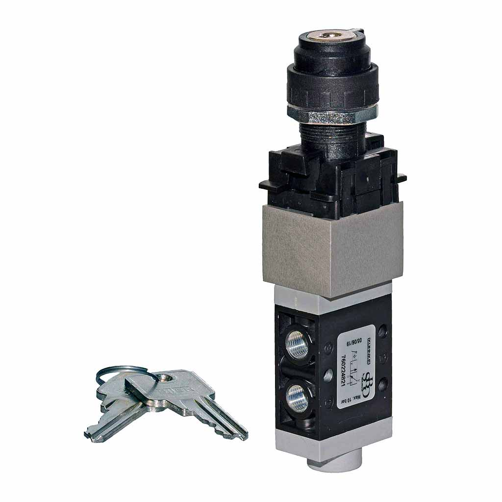 Kuhnke 76 series key operated pneumatic valve