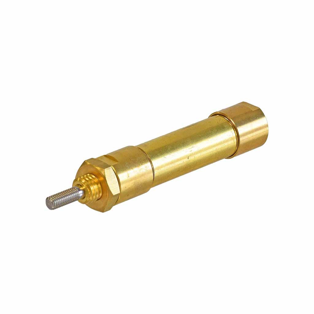 Kuhnke single acting brass cylinder 12mm to 16mm bore, mounting type S