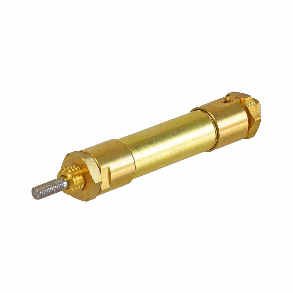 Kuhnke single acting brass cylinder 12mm to 16mm bore, mounting type U