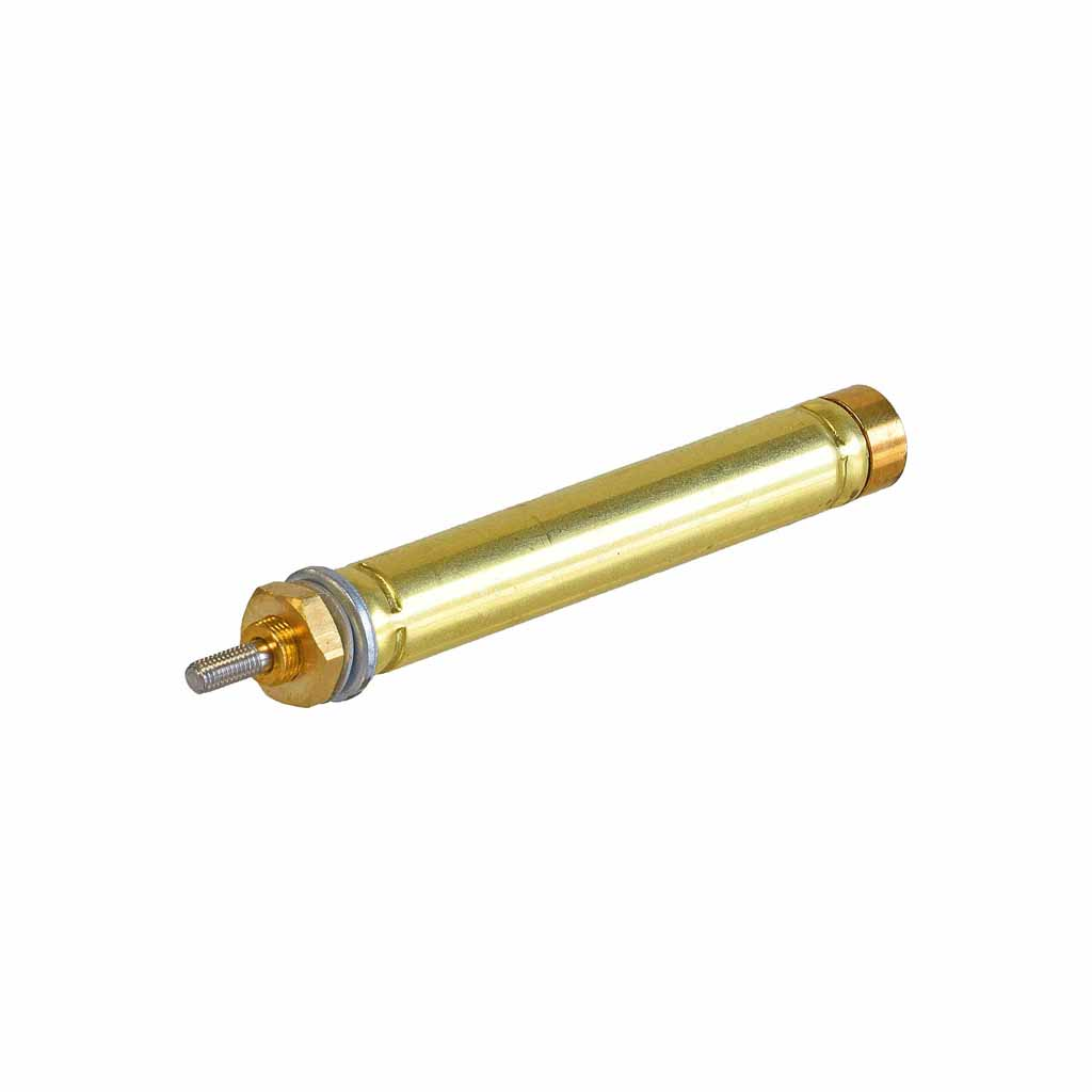 Kuhnke single acting brass cylinder 5mm to 8mm bore, mounting type S