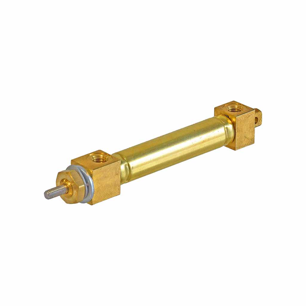 Kuhnke double acting brass cylinder 5mm to 8mm bore, mounting type U