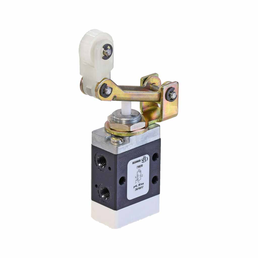 Kuhnke 79 series two-way roller lever valve