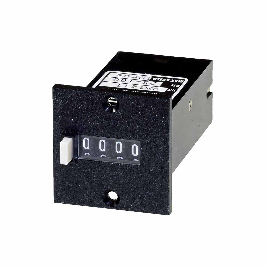 PM14 series 4 digit panel mount totalising counter
