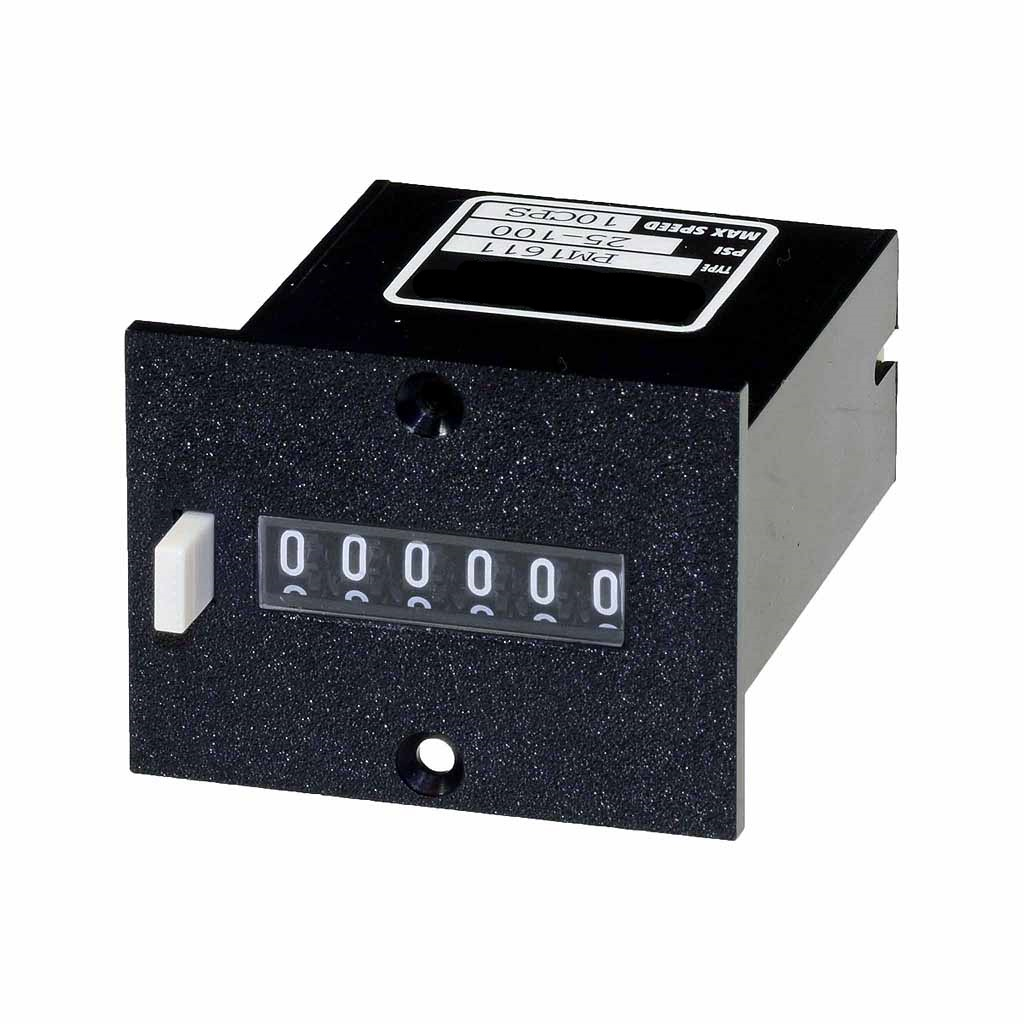 PM16 series 6 digit panel mount totalising counter