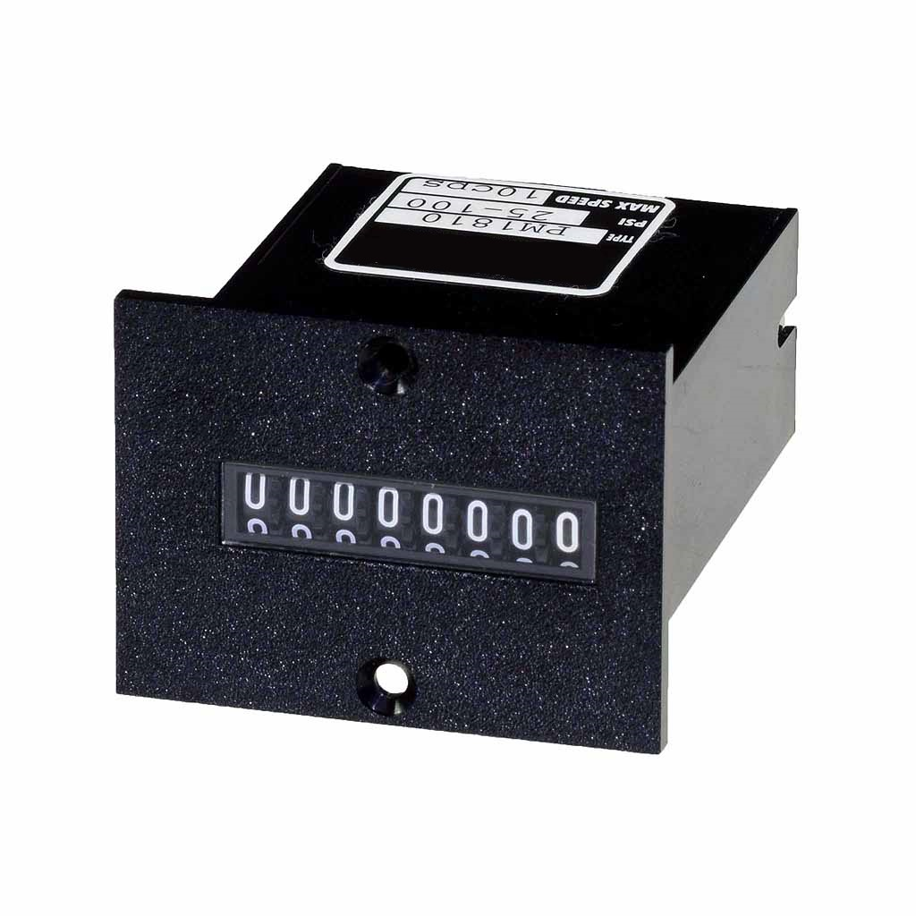 PM18 series 8 digit panel mount totalising counter