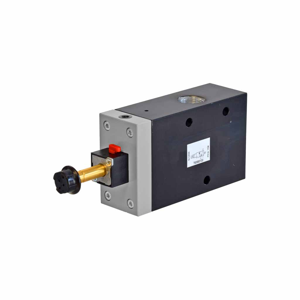 Kuhnke 76 series solenoid valve 3 way single solenoid 1/2 ports