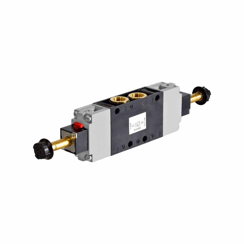 Kuhnke 76 series solenoid valve 5 way double solenoid 1/4 ports