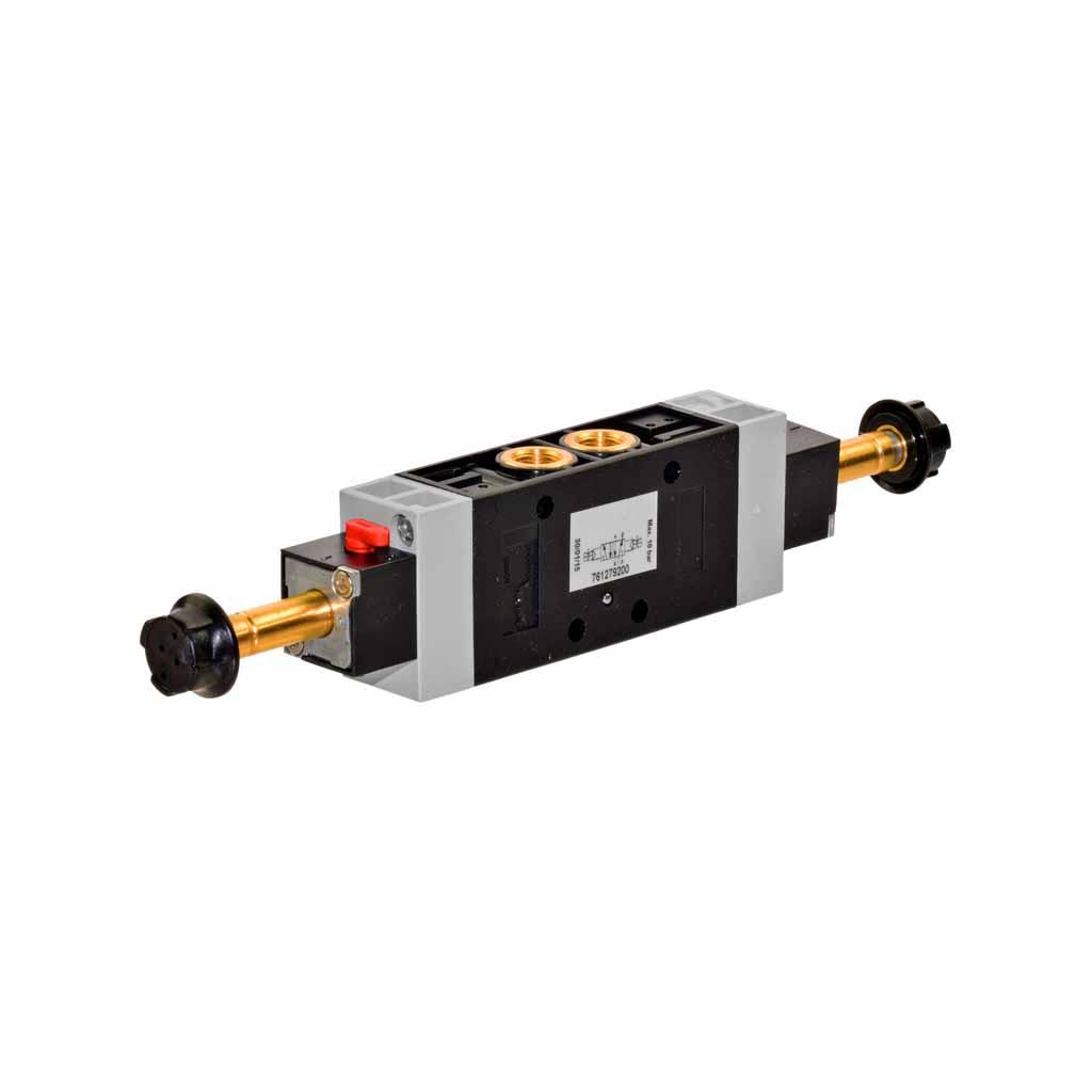Kuhnke 76 series solenoid valve 5 way double solenoid 1/8 ports