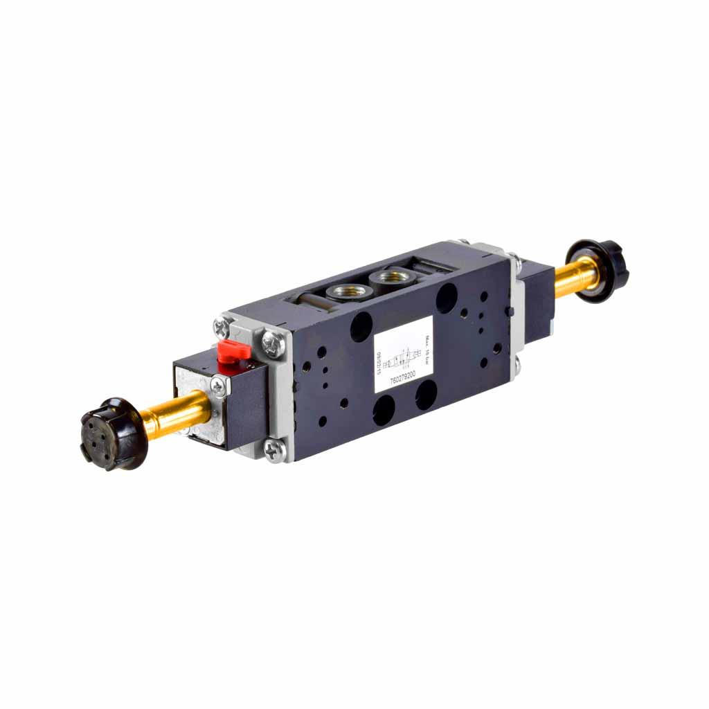 Kuhnke 76 series solenoid valve 5 way double solenoid 1/8 ports compact design