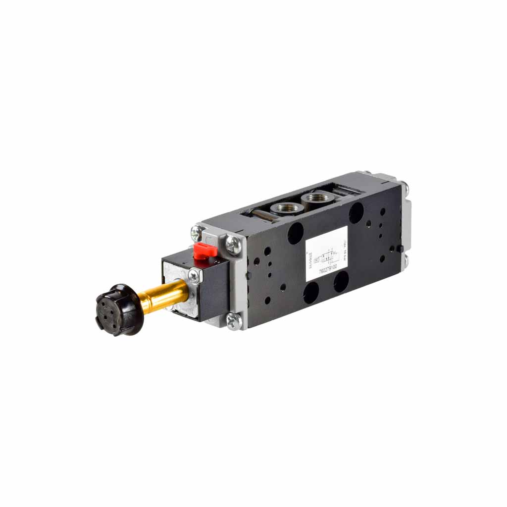 Kuhnke 76 series solenoid valve 5 way single solenoid 1/8 ports compact design