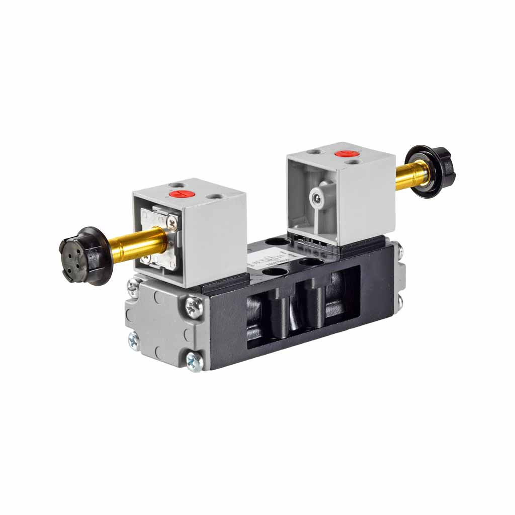 Kuhnke 76 series 5 way double solenoid ISO 1 valve with CNOMO coil