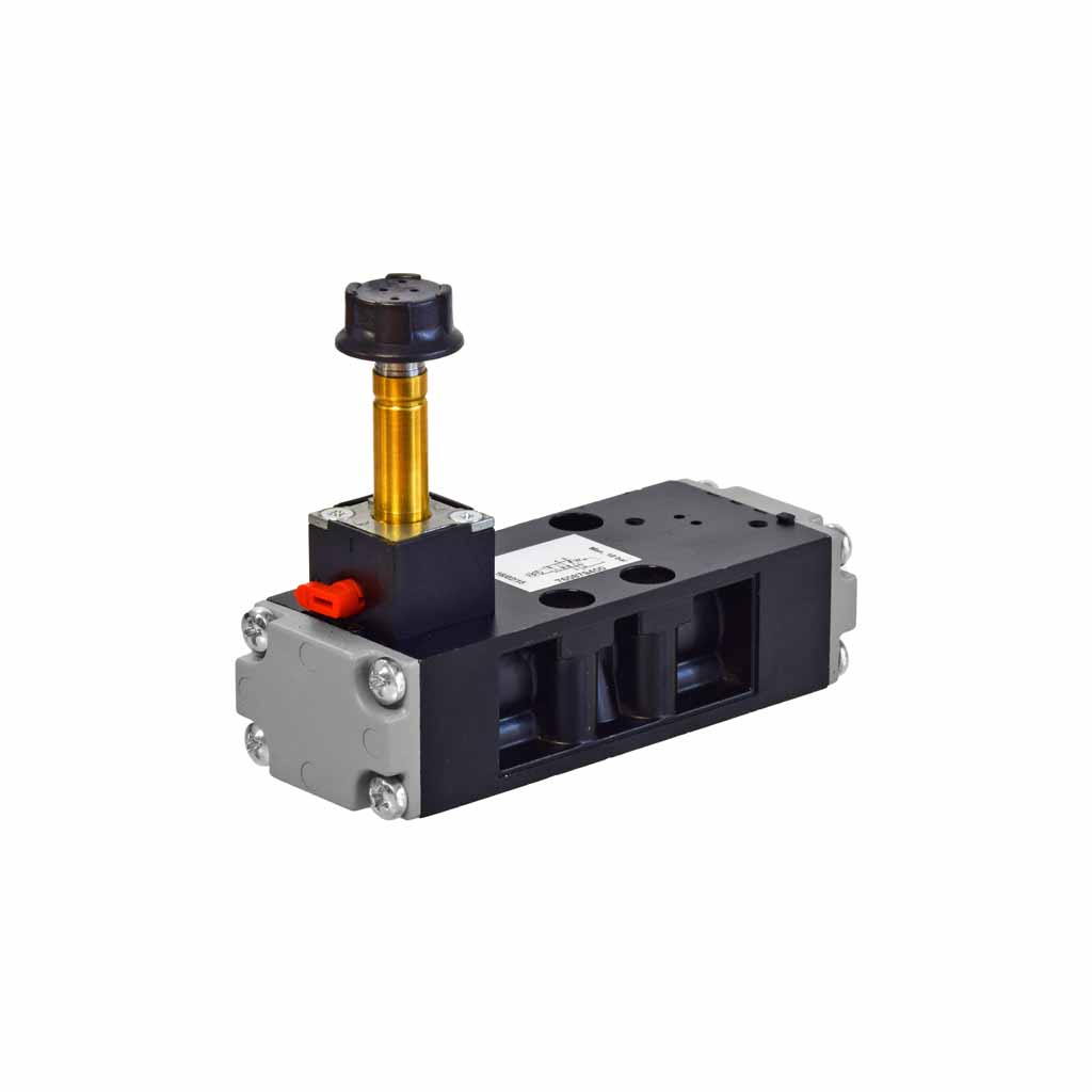 Kuhnke 76 series 5 way single solenoid ISO 1 valve with vertical coil