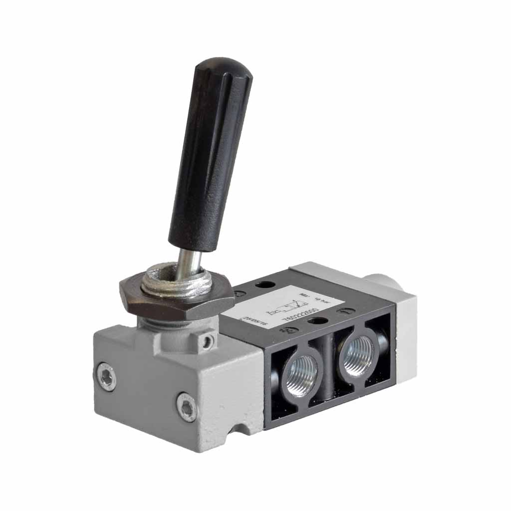 Kuhnke 76 series 3 way pneumatic toggle lever valve 1/8 ports