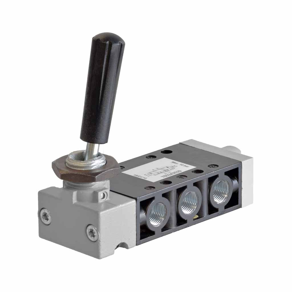 Kuhnke 76 series 5 way pneumatic toggle lever valve 1/8 ports