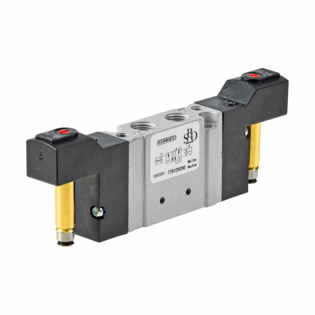 Kuhnke 77 series solenoid valve with double solenoid control