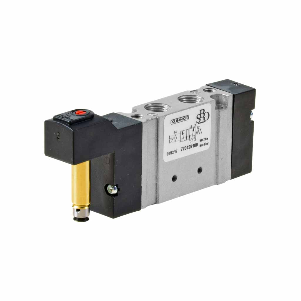 Kuhnke 77 series solenoid valve with single solenoid control