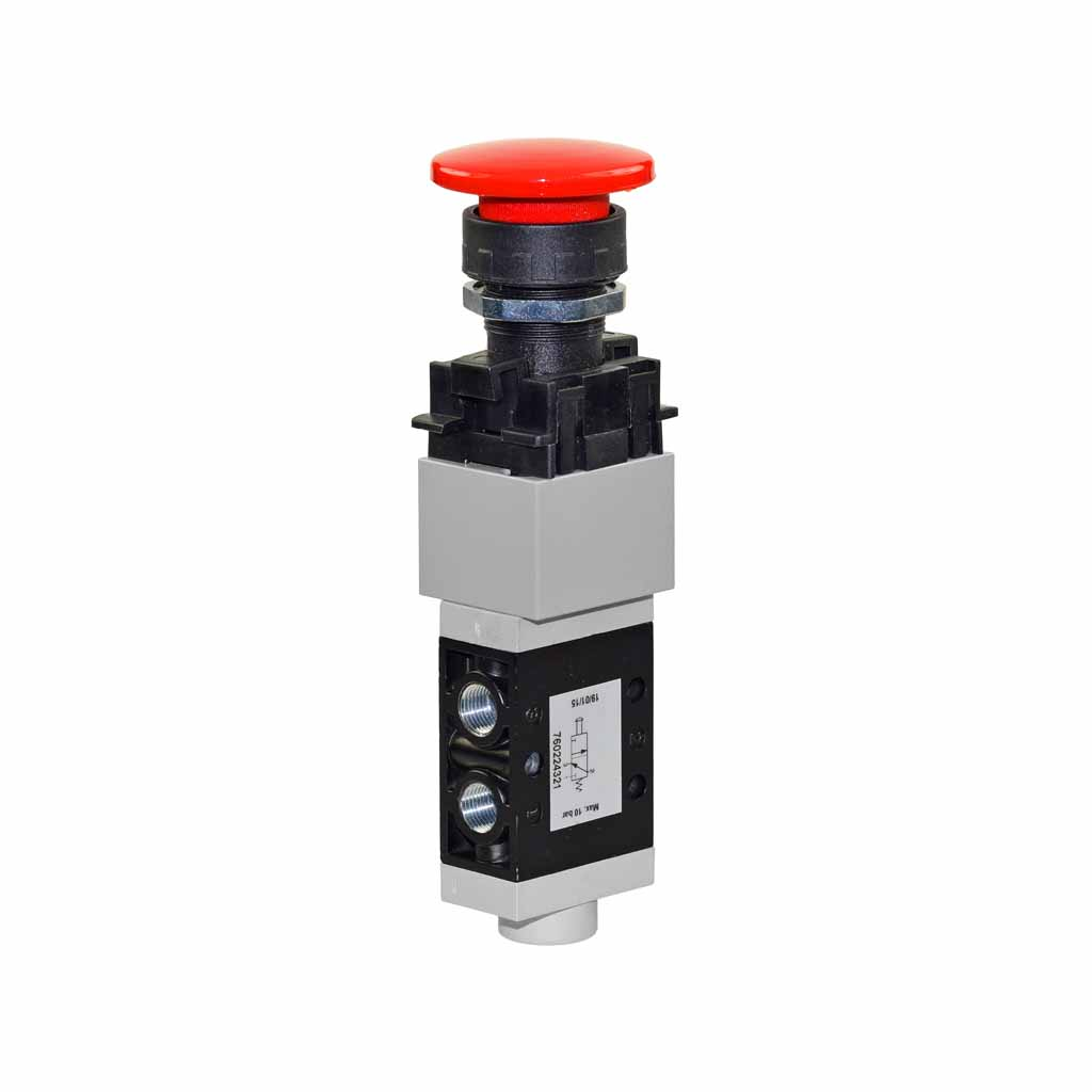 Kuhnke 76 series punch button pneumatic valve 22mm