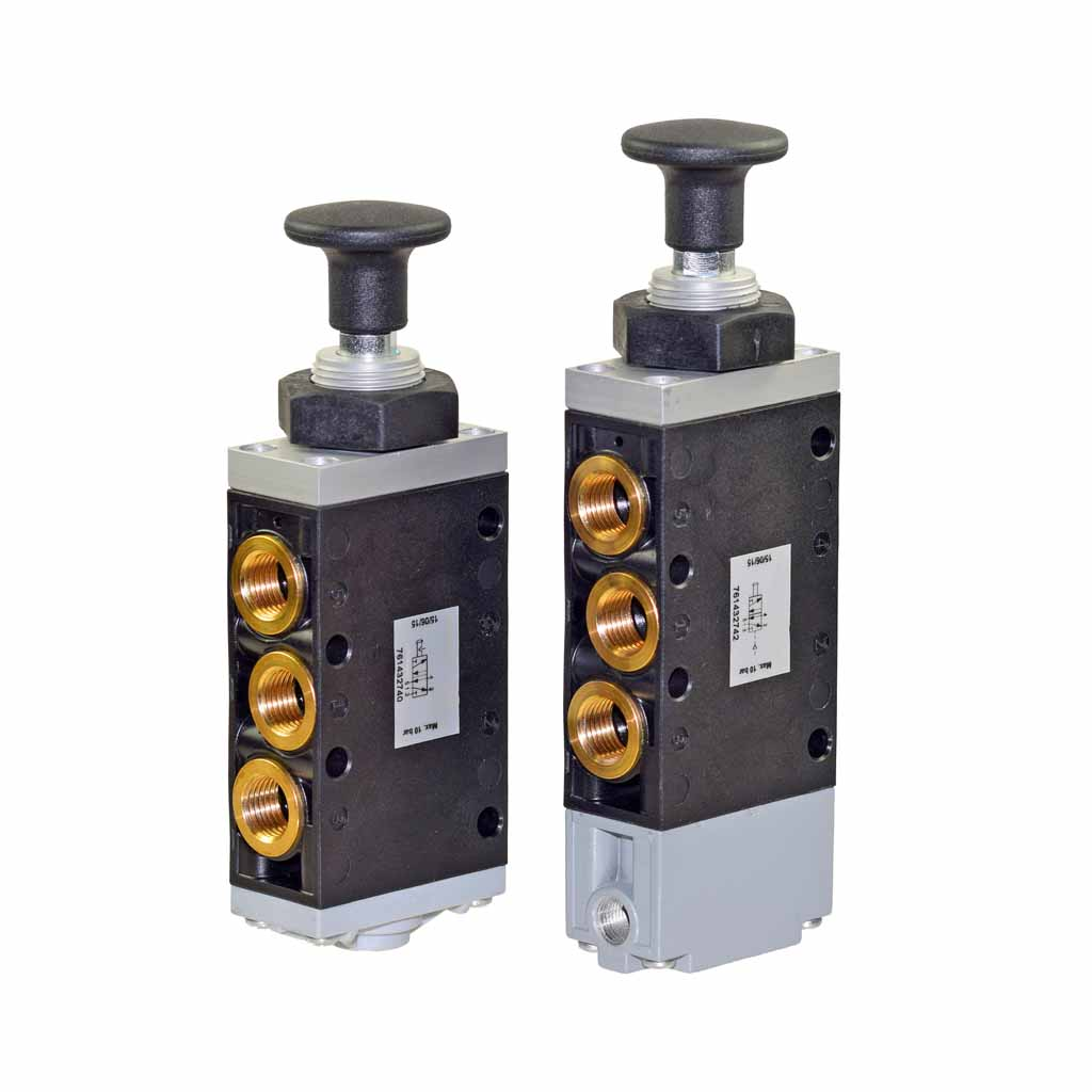 Kuhnke 76 series knob operated pneumatic valve