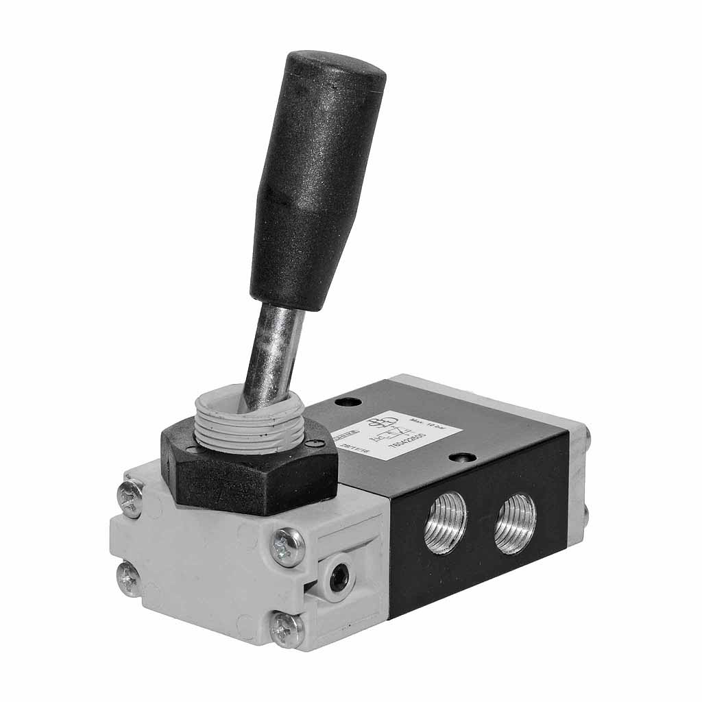 Kuhnke 76 series 3 way pneumatic toggle lever valve 1/4 ports