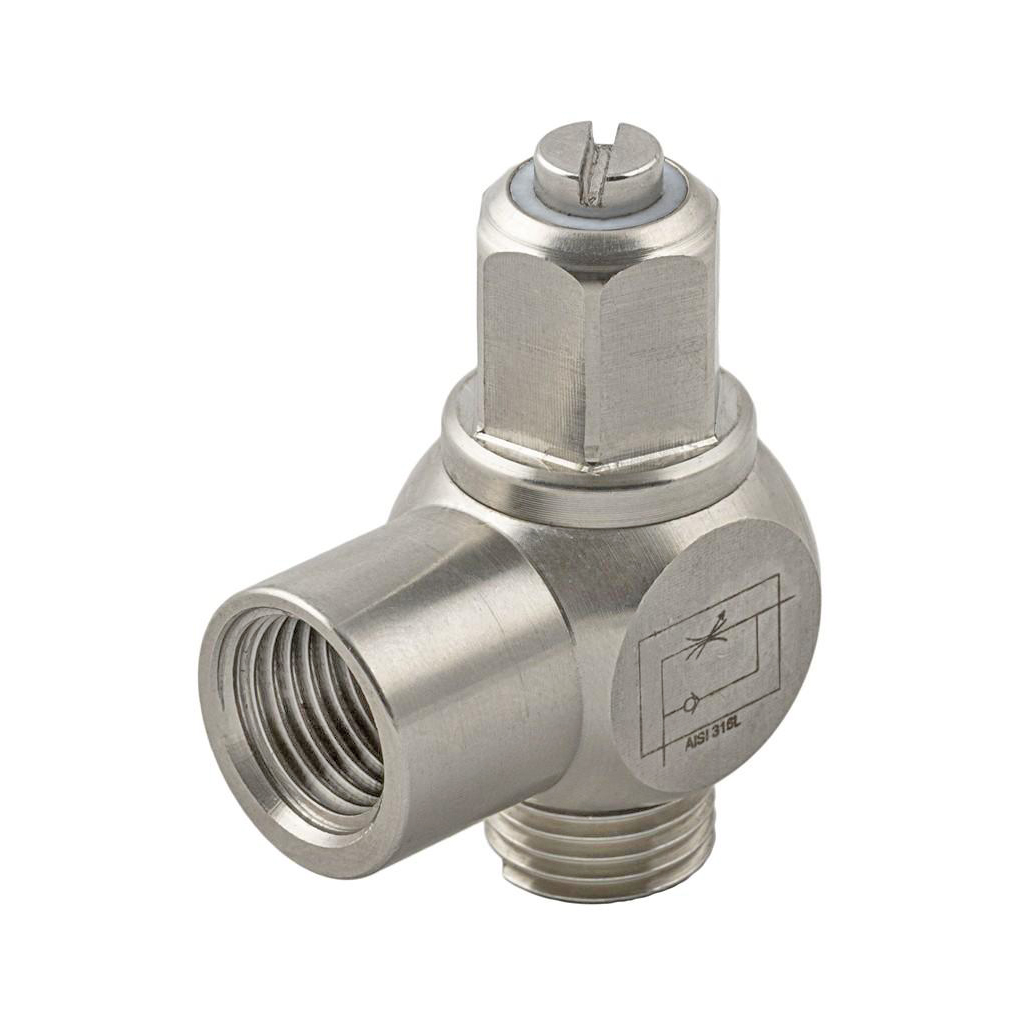 Stainless steel cylinder banjo type exhaust regulator