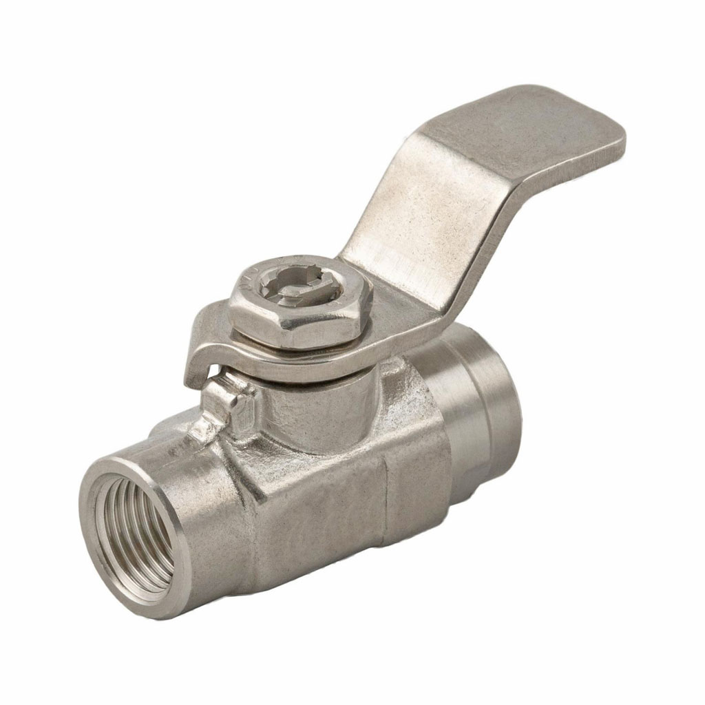 Stainless steel lever operated ball valve