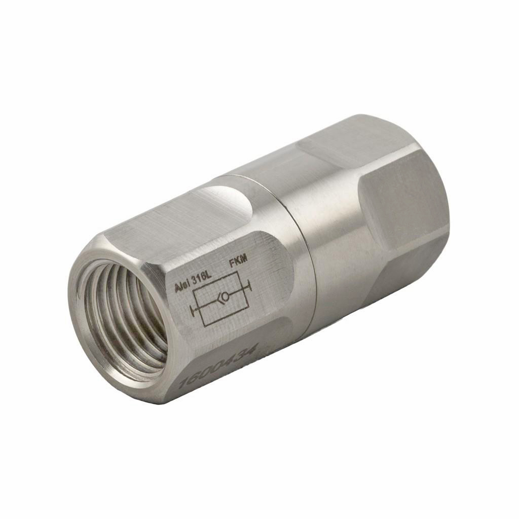 Stainless steel one-way non-return valve